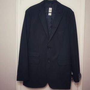 NWT Black two button tailored fit blazer 44L